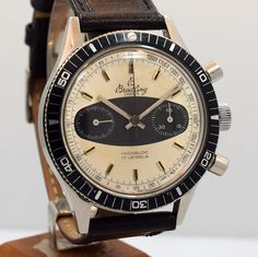 A 1970's era Breitling Reference 765 AVI stainless steel chronograph with a…