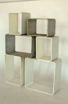 Willy Guhl; Cement and Fiber Modular Shelving for Eternit, c1970.