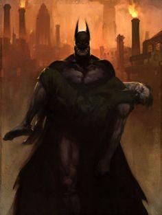 Batman and The Joker - Arkham City concept art