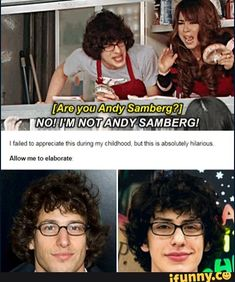 Andy samberg is uncircumcised robbie Really Funny Memes, Stupid Funny Memes, Funny Relatable Memes, Funny Posts, Hilarious, Funny Stuff, Funny Humor, Random Stuff, Icarly And Victorious