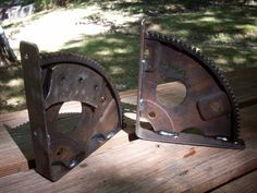 Flywheel Gear Shelf Brackets. $30.00, via Etsy.