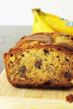 Got bananas and chocolate? Then you've got the makings for a wonderful snack. Or breakfast. Or dessert. Make Chocolate Chip Banana Bread!