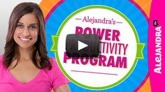 [VIDEO]: Power Productivity Program by Alejandra.tv.  Watch it here --> https://www.alejandra.tv/shop/how-to-organize-online-organizing-program/?utm_source=Pinterest&utm_medium=Pin&utm_content=PPPVideo&utm_campaign=PPPVideo