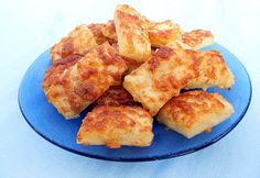 Gluténmentes sajtos kocka