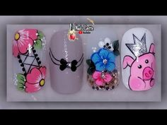 Beach Nails, Margarita, Manicure, Nail Designs, Lily, Nail Art, Youtube, Videos, Blue Nails