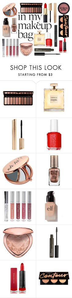 """""""In my Makeup Bag"""" by izzwhizzicorn on Polyvore featuring Forever 21, Essie, Miss Selfridge, Barry M, e.l.f., Too Faced Cosmetics, NYX, Christian Dior and Max Factor"""