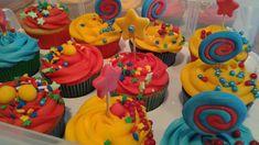 Circus Birthday Cupcakes Circus Birthday, Birthday Cupcakes, Desserts, Food, Meal, Deserts, Essen, Hoods, Dessert