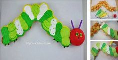 Hungry Caterpillar Pullapart Cupcake Cake