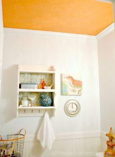 Bold Orange Ceiling (in a fabulous bathroom)!