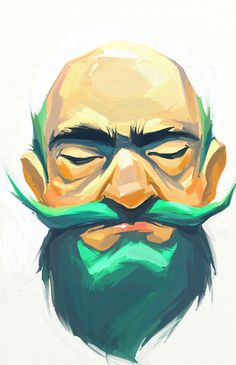 By Viktor Miller-Gausa    I've heard of Blue Beard but Green ?    I wish I had hair this colour