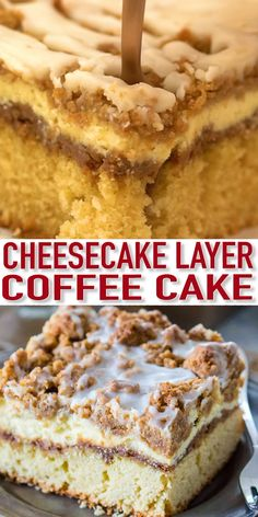 Best Ever Coffee Cake Recipe [VIDEO] – Sweet and Savory Meals This Coffee Cake is moist, and buttery, topped with cinnamon filling, vanilla cheesecake, and a sweet streusel topping. It is a delicious dessert that you will make over and over again. Baking Recipes, Cookie Recipes, Boxed Cake Recipes, Diabetic Cake Recipes, Eclair Cake Recipes, Baking Ideas, Elegante Desserts, Dessert Party, Dessert For Dinner