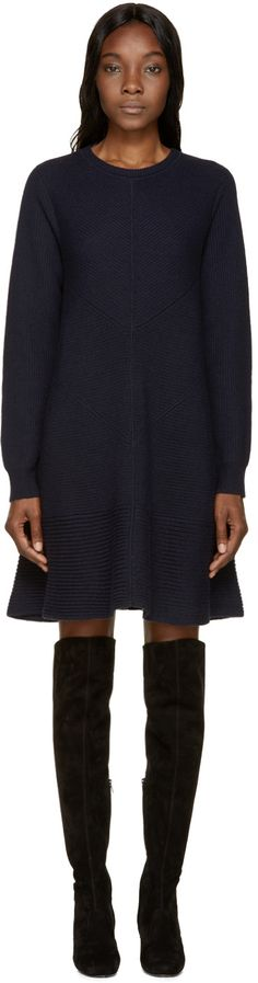 Proenza Schouler - Navy Cashmere Sweater Dress