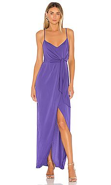 Shop for BCBGeneration Tie Wrap Maxi Dress in Blueberry at REVOLVE. Free day shipping and returns, 30 day price match guarantee. Floor Length Dresses, Maxi Wrap Dress, Revolve Clothing, Bcbgeneration, Ladies Dress Design, Leggings Fashion, Cold Shoulder Dress, Shoulder Straps, Designer Dresses