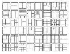 Subdivisions of the square according to the golden mean - Fibonacci sequence. Composition, The Golden Mean, Sacred Architecture, Golden Ratio Architecture, Mondrian, Elements And Principles, Quilt Modernen, Web Design, Graphic Design