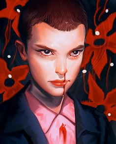 Eleven from Stranger Things by Crystal Graziano