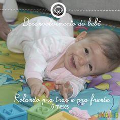 Desenvolvimento do bebê 4: rolar aos 6 meses - saiba como ajudar no desenvovimento do seu bebê! #tempojunto