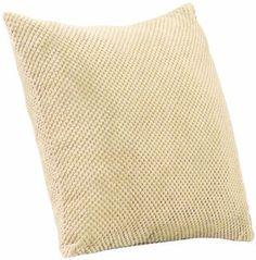 Dreams 'n' Drapes Chenille Spot Single Cushion Cover, 22 x 22-inch, Cream:Amazon:Kitchen & Home