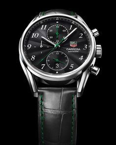 439a5d4f588 TAG Heuer Carrera Heritage 2011 Singapore Grand Prix Love the green accents  Fine Watches