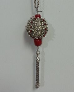Beaded bead pendant - Yemenite style