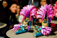 Mother-Daughter Altered Shoes Project, library event from Aram Public Library