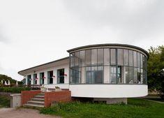 European Modernism 1920s/ Kornhaus, Dessau, architecture: Carl Fieger, 1930 by Carl Fieger, Bauhaus Teacher, 1927–1930