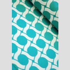 Circles -  Turquoise - Geocentric by Michelle Engel Bencsko - Cloud 9 Organic Fabrics