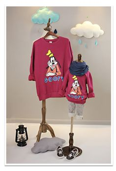 New 2015 Autumn Winter Family style mom and kids sweater cute cartoon family clothing 2-5Y kids family matching outfits