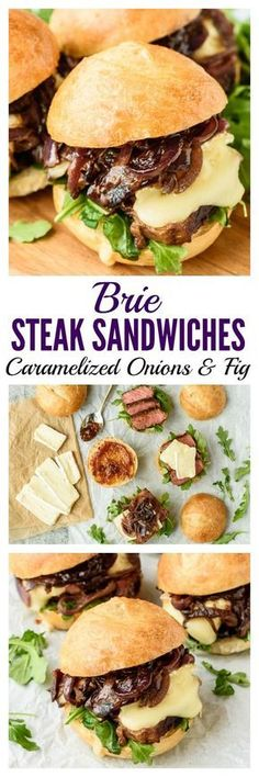 Brie Steak Sandwiches