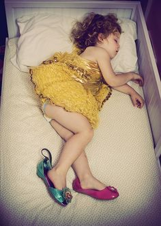 I could have danced all night! This so reminds me of my girls...they love to dance and fall asleep in their princess dresses!