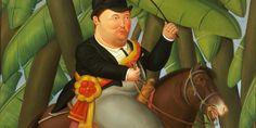 'Presidente a caballo', una de las obras incluidas en la exposición de Botero en Pekín..
