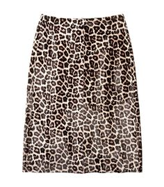 Theory Midi Leopard Skirt
