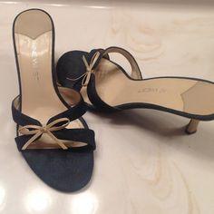 """Nine West Denim kitten heel Adorable denim kitten heel, comfortable to wear with 2 1/2"""" heel.  Slightly used. Nine West Shoes"""