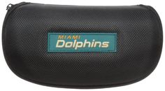 NFL Miami Dolphins Adult Hard Shell Glasses Case, Black. Officially licensed NFL product. Hard shell glasses case protects your glasses for bumps, scratches and dirt. Zippered closure for added. Brightly colored team logo. Microfiber interior protects from scratches.
