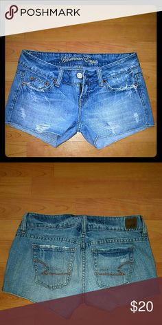 American Eagle denim shorts These are the perfect little shorts to bounce around this summer.  American Eagle precut your favorite vintage style jeans and made them your favorite little shorts. American Eagle Outfitters Shorts Jean Shorts