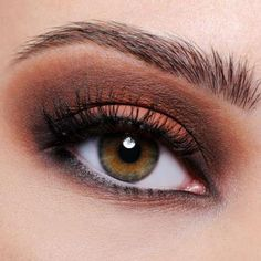 Earth toned eye shadows and glittering brown liner may be the best way to highlight your eyes this summer