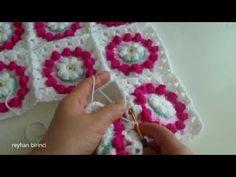 Motif Birleştirme Yöntemleri (Sık İğne ile) / Tığişi Çocuk Battaniyesi - YouTube