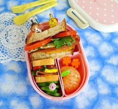 Happy Little Bento: Big and Small Ham & Cheese Sandwich Bento