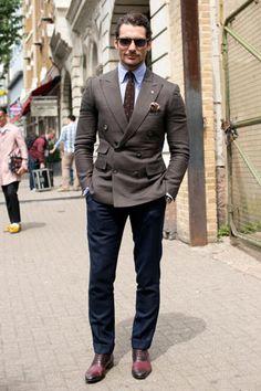 SÍ Y NO: Los looks del street style de las fashion weeks  David Gandy, London Fashion Week Hombres, SS14.
