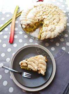 Tarte à la Rhubarbe meringuée Alsacienne - Cuisine Addict