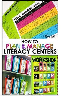 Plan & Manage Literacy Centers #LiteracyCenters