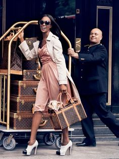 Love LV and Naomi Cambell
