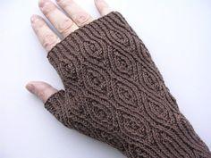 Crème de Noyaux Mitts PDF knitting pattern by FingertipsPatterns, $4.00