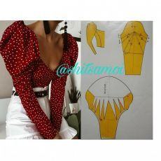 Dress Sewing Tutorials, Skirt Patterns Sewing, Sewing Patterns Free, Clothing Patterns, Pattern Drafting Tutorials, Coat Patterns, Blouse Patterns, Sleeves Designs For Dresses, Sleeve Designs