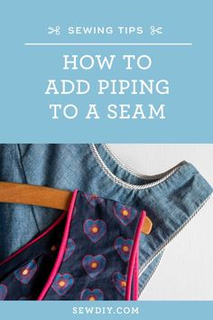 Learn how to sew piping into a seam with this video tutorial. Piping is a great way to add an extra bit of detail to your garments or home decor items. Plus, it's fairly easy to do.