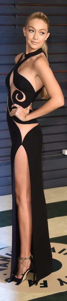 The sexiest look from the Oscars: Gigi Hadid in Versace.