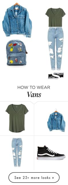 """""""casual"""" by xoxotiffvni on Polyvore featuring Gap, Topshop, Calvin Klein and Vans"""