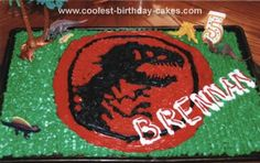 Jurassic Park Cake: My 5-year-old son, obsessed with dinosaurs, specifically requested a Jurassic Park Cake for his birthday. I scoured the internet, looking for something