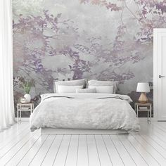 Forest Bedroom, Forest Mural, Bedroom Wallpaper, Calming, Wall Murals, Bedrooms, Metallic, Walls, Trees