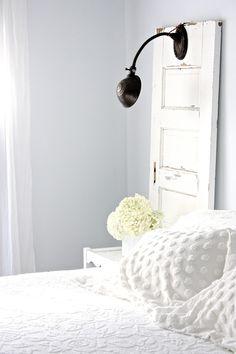 "Tennessee Farmhouse Bedroom Update in Beautiful Benjamin Moore ""silver cloud"" !"
