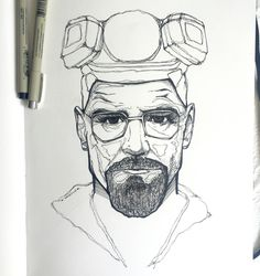 -- I am the one who knocks --  heisenberg, breaking bad, walter white, bryan cranston, illustration, illustration of the day, handmade, graphic design, sketch, art, instaartist, ink, pen and ink, my art, art of the day, drawing, draw, sketchbook, moleskin, breaking bad art, pen and paper, nerd art, micron pens, fan art, illustrate, design, utah artist, creativity found, minimalistic, instagood